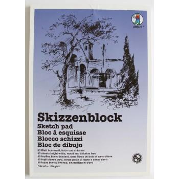Skizzenblock weiss A3, 120...