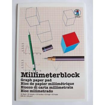 Millimeterblock A3 à 25 Blatt