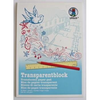 Transparentpapier-Block A4...