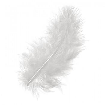 Marabufedern 8 - 10cm, weiss