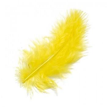 Marabufedern 8 - 10cm, gelb
