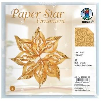 Papier-Sterne Ornament,...