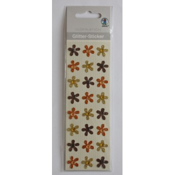 Glitter-Sticker Blüten...