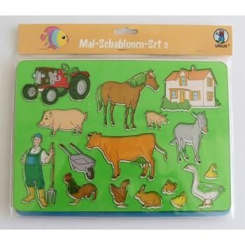 Mal-Schablonen Set à 6