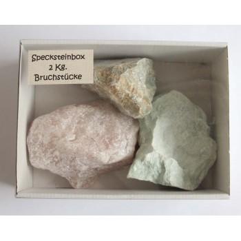 Speckstein-Box roh, 2 Kg...