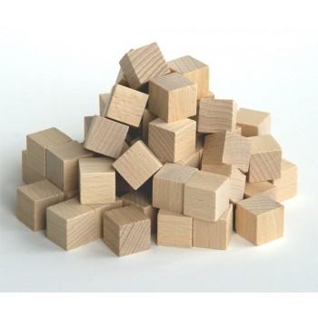 Würfel Holz kantig, 20 x 20mm