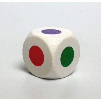 Würfel mit farbigen Punkten