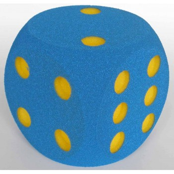 Schaumstoffwürfel blau mit...