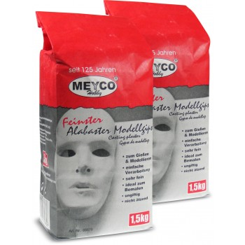 Modellgips Meyco weiss 1.5 kg.