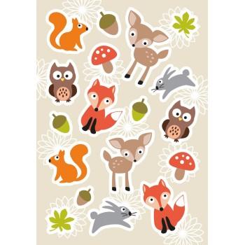 Aufklebe-Bilder Waldtiere