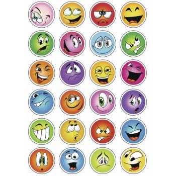 Aufklebe-Bilder Smile Glimmer
