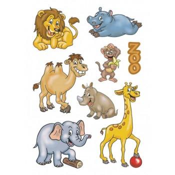 Aufklebe-Bilder Zootiere