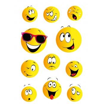 Aufklebe-Bilder Smiley...
