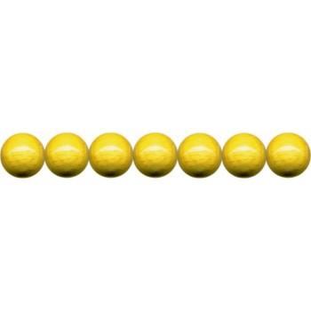 Holzkugeln 4mm mit Loch, gelb