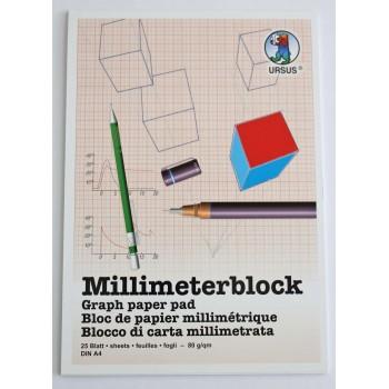 Millimeterblock A4 à 25 Blatt