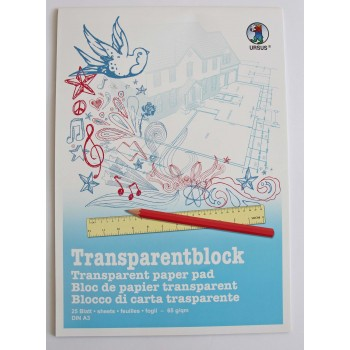 Transparentpapier-Block A3...