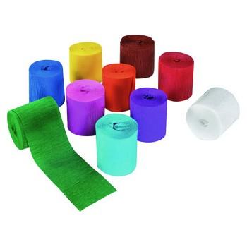 Krepp-Papier Bänder farbig,...