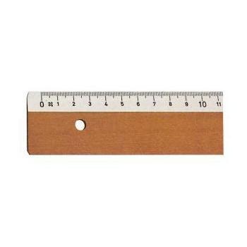 Flachlineal Holz, 100cm