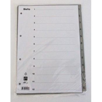 Register Kunststoff 1 - 12, A4